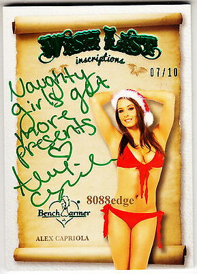 2013 Benchwarmer Holiday Inscription Auto: Alex Capriola #7/10 Autograph Naughty