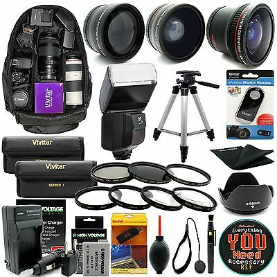 Canon EOS Rebel T3 T5 / 1200D 1100D SLR Camera Everything You Need Accessory kit
