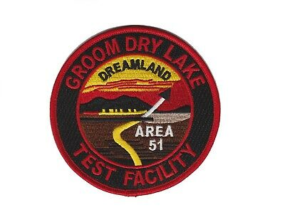 USAF Black Ops Area 51 Groom Dry Lake Test Dreamland Space Alien Research Patch