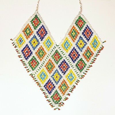 Belly Dance ATS tribal Beaded NECKLACE Afghani Kuchi 806f1