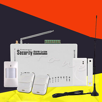 Wireless GSM Alarm Dual System Antenna Security Home System House Alarm System