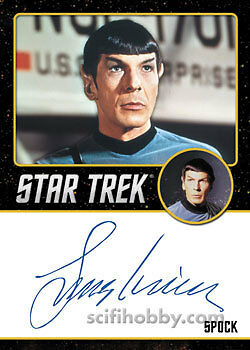 Star Trek TOS Portfolio Prints Autograph Card Leonard Nimoy as Spock