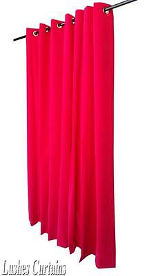 "Fuchsia 84""H Velvet Curtain Panel w/Grommet Top Eyelets Window Treatment Drapes"