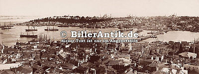 The Port from the Galata Tower Türkei Istanbul Osmanisches Reich Photo S 001
