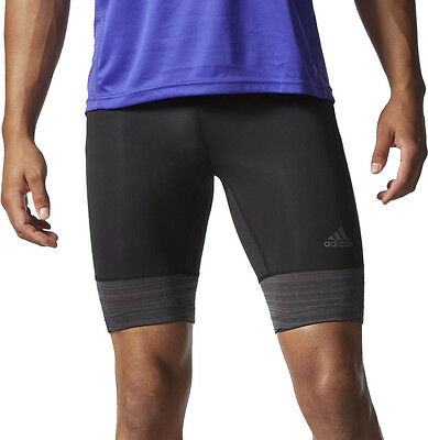 Adidas Supernova Mens Short Running Tights - Black