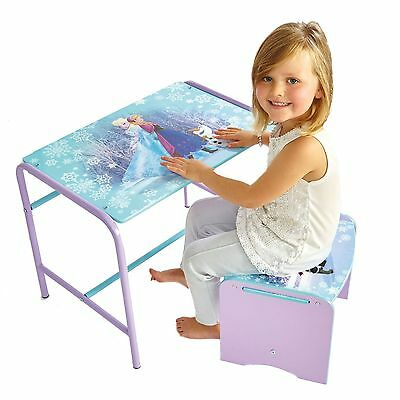 Disney Frozen Doodle Desk & Stool New Kids Mdf / Metal