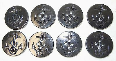 GENUINE U.S. NAVY PEA COAT BUTTONS (Set of 8-NEW) w/ Free Shipping
