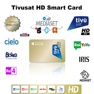 TivuSat HD Pre- Activated Smartcard – Watch Italian TV now!!!