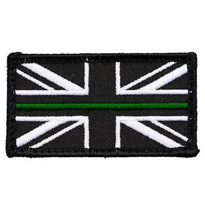 AMBULANCE THIN GREEN LINE UNION JACK PATCH / BADGE VELCRO® & SOFT PIECE - Small