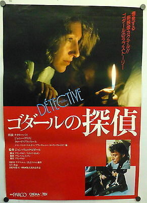 ~ Francois Truffaut Detective Original 1980s Japanese Movie Poster Leaud