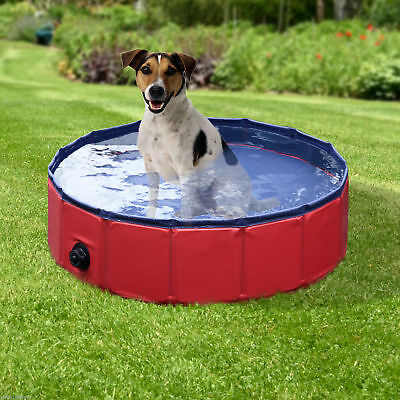 PawHut Folding Splash About Dog Pool Pet Swimming Pool Outdoor Dia. 31.5""