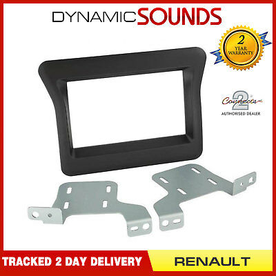 CT23RT11 Black Double Din Stereo Fascia Panel Adaptor For Renault Master 2010>