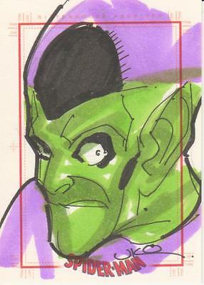 Spider-Man Archives -  Uko Smith Sketch Card of Green Goblin