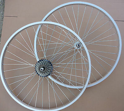 """WHEELS 26"""" Bicycle Mountain Bike Cycle Front &/or Rear add Shimano 6 / 7 Speed"""
