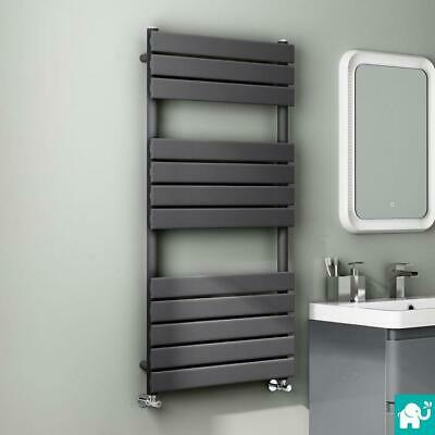 Anthracite Designer Flat Panel Towel Rail Radiator Bathroom Warmer 1200x600 mm