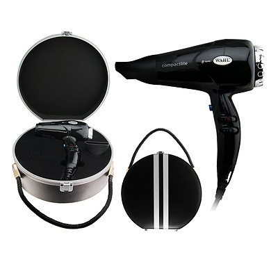 WAHL COMPACTLITE DRYER with Case 2000W Ionic Hair Dryer Compact - W/ RETRO CASE