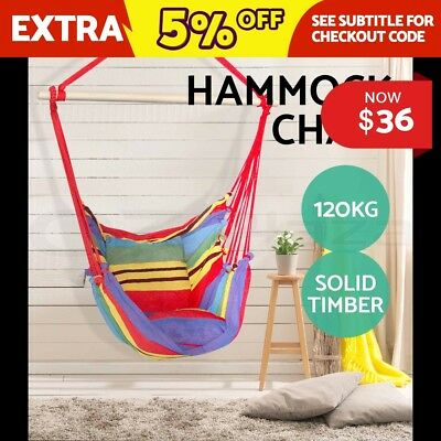 Deluxe Hammock Chair Hammocks Hanging Chair Swing Indoor Outdoor Camping