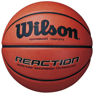 Wilson Reaction Basketball Composite Leather Ball for Indoor / Outdoor rrp£26