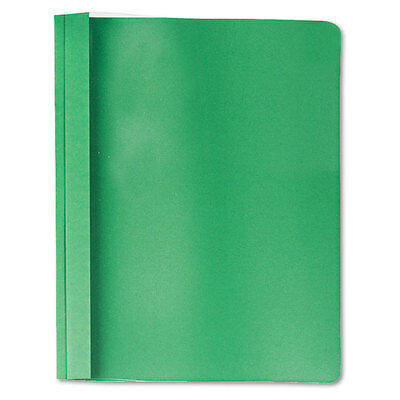 """""""Universal Clear Front Report Cover, Tang Fasteners, Letter Size, Green, 25/box"""""""