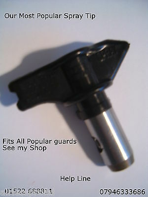 Airless paint spray gun tip sizes 207 to 423