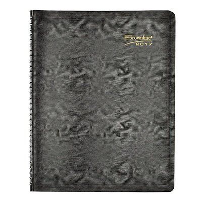 Brownline Essential Collection Weekly Appointment Book, 11 X 8.5, Black, 2016