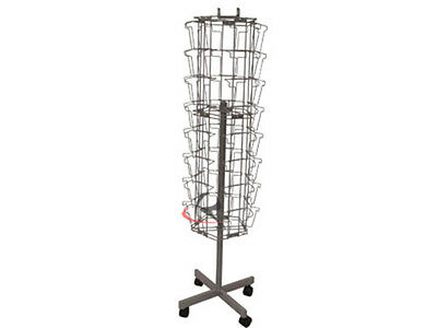 Silver Color 40 Pocket Card Display Rack Store Use #RK-A5