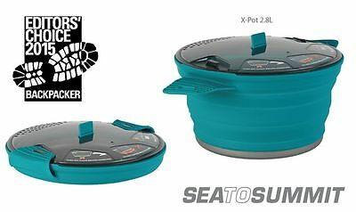 Sea to Summit X Pot 2.8L BLUE Folding & Lightweight for Backpacking NEW for 2016