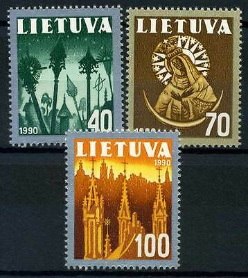 15-09-01992 - Lithuania 1991 Mi.  474-476 MNH 100% National symbol