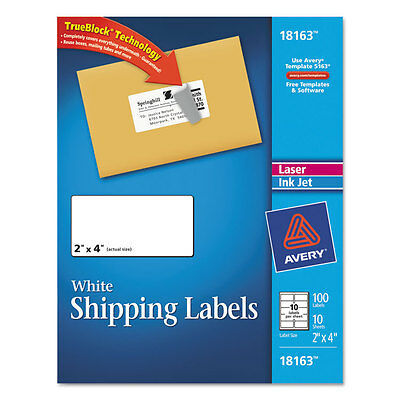 avery permanent shipping labels 4 x 6 inches white pack of 20