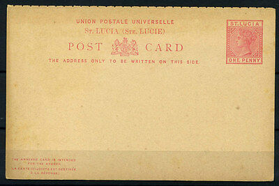 15-10-00857 - Saint Lucia 1889 Mi.  4 POS 100% Postal stationery - Post Card