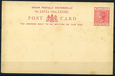15-10-00855 - Saint Lucia 1890 Mi.  3 POS 100% Postal stationery - Post Card