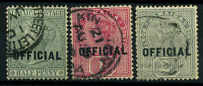15-10-00365 - Jamaica 1890 Mi.  2-4 US 100% Official stamps