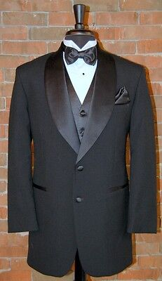 Mens 38 R  Classic Black 2 Button Shawl Dinner Jacket Tuxedo by After Six