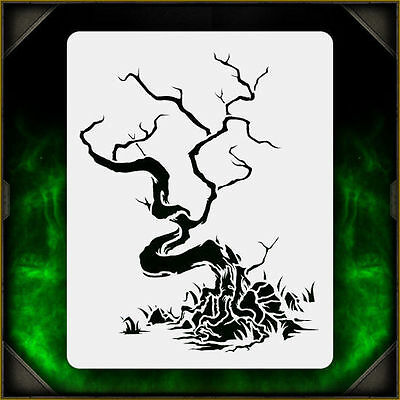 Creepy Tree 2 - Airbrush Stencil Template Airsick Zombies