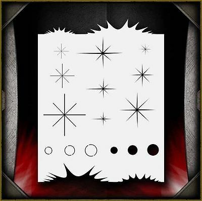 """Sparkle Freehander"" Airbrush Stencil Template Airsick"