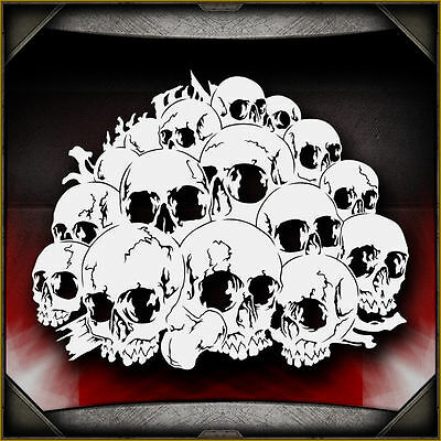 Skull Background 11 -  Airbrush Stencil Template Airsick