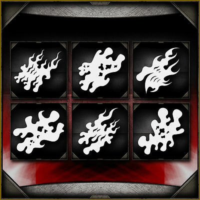 """Fire Storm Full Set"" Airbrush Stencil Template Airsick"