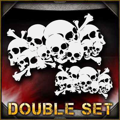 Skull Background 5 Double Set Airbrush Stencil Template Airsick