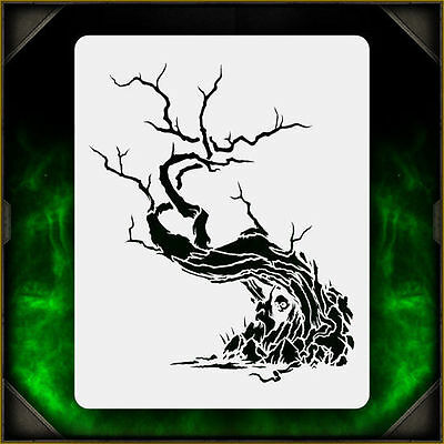 Creepy Tree 1 - Airbrush Stencil Template Airsick Zombies