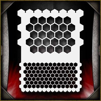 """Honeycomb"" Airbrush Stencil Template Airsick"