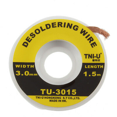 Security 5 ft. 3 mm Desoldering Braid Solder Remover Wick TNI-U TU - 3015new GA