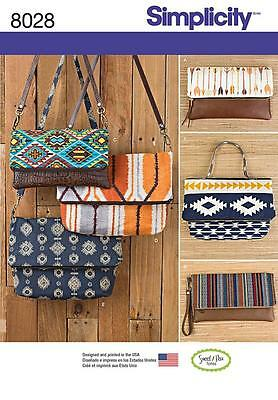 Simplicity Sewing Pattern Clutch Wristlet Bags & Purse In 2 Sizes  8028