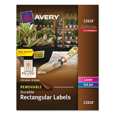 Avery Removable Rectangle Labels trueblock Technology 1 1/4x1 3/4 Glossy 256/pk
