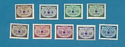 Occupation of Poland 1940 No. 16-24 cpl. set  official stamps MNH ** !!