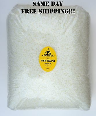 White Beeswax Bees Wax Organic Pastilles Beads Premium 100% Pure 10 Lb