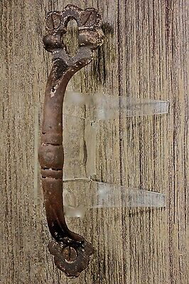 "6 7/8"" Thumb Latch screen handle drop attic door pull old paint vintage iron"