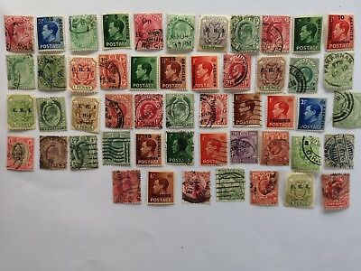 50 Different British Empire/Commonwealth Edward VII & Edward VIII issues only