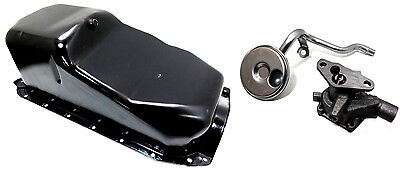 GM Marine Oil Pan, 3.0L with Rear Sump, Oil Pump & Pick-Up Screen - NEW!