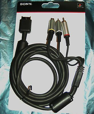 OFFICIAL SONY PS ONE Playstation 2 & 3 10 Ft 3Mtr S-Video GOLD Cable Lead TV AV