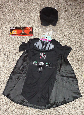 Disney Rubies Pet Dog Star Wars Darth Vader Halloween Costume Size Large NWT